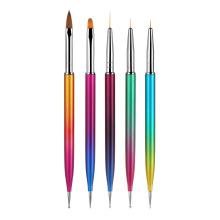 5 pcs/set Double Head Nail Art Nylon Painting Pen Nail Design Brush