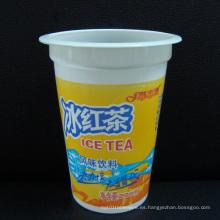 Buena calidad de la taza desechable de PP en color blanco para la leche