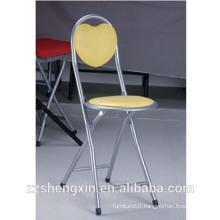Metal Folding Bar Chair, Leisure Backrest Bar Chair Yellow