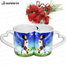 Sublimation Magic Couple Tassen Zu niedrigen Preis Wholsale11oz Paar Liebhaber Tasse