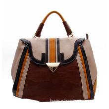 Triangle Button PU Lady Tote Bag, Leather Briefcase Bags (FJ28-129)