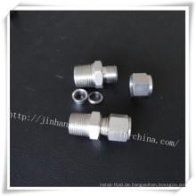 Edelstahl-Doppel-Ferrules Durchsteckverbinder