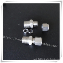 Stainless Steel Double Ferrules Through Connector
