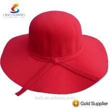Moda femenina Girl Floppy Derby sombrero de par en par Brim verano Beach Straw sombrero de sol