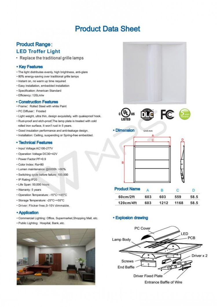 Alumium LED Troofer Light