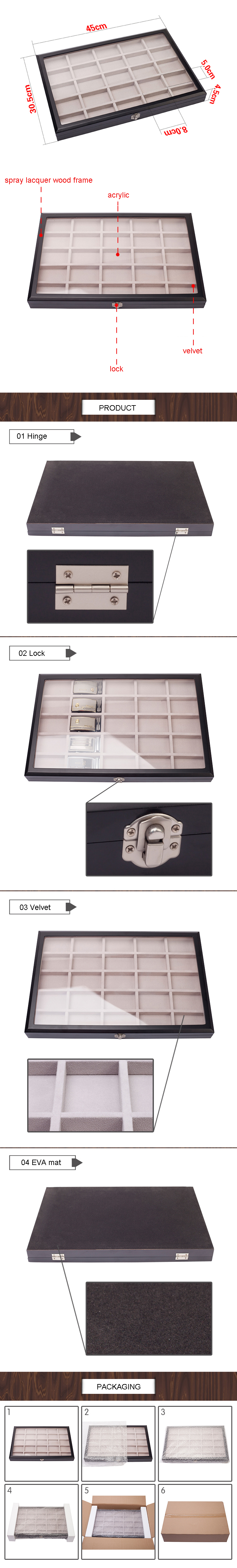 Multi-Grid Belt Buckle Counter Display Case
