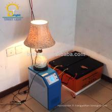 Système d'énergie solaire de 15kw qui respecte l'environnement avec la charge de téléphone