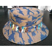 Camo lona al aire libre señora Bucket Hat (ACEW064)