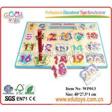 Rompecabezas de números magnéticos juguetes educativos