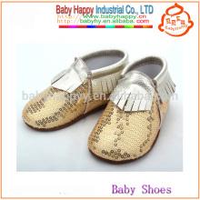 Обувь для новорожденных новорожденных мокасинов