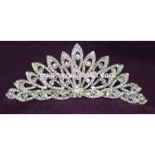 Gute Qualität Mini Discount Glänzende Kristall Braut Krone Custom Hochzeit Tiara