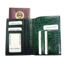 Titular de pasaporte de cuero genuino de grado superior