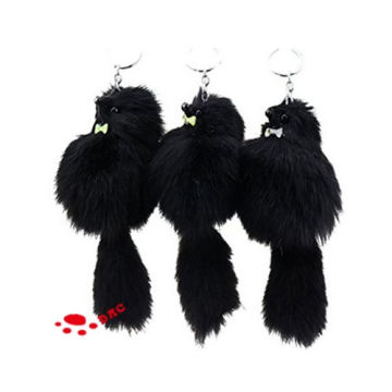 faux fur animal key ring