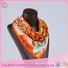 Latest Arrival spring popular 100% silk digital printed round neck scarf