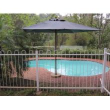 Clôture de piscine ronde en métal