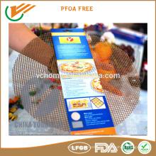 FDA LFGB Antihaft-gesunde Kochen Mesh-Matte, leicht zu reinigen Blatt PTFE Kochen Mesh