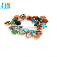 bead landing charms pendants 12mm more colors 12pcs/bag crystal square shape gold plated charms K9 Glass crystal pendant