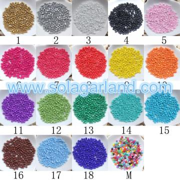 2/3/4 MM Opaque Round Glass Seed Beads For Jewelry Making