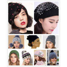 Fashion Winter Knitted Hat for Ladies