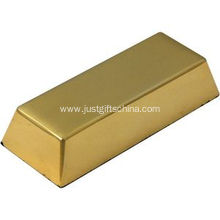 Promotional Logo Gold Bar Anti Stress Balls