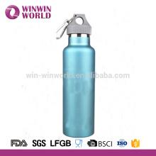 Botella de beber de deporte de acero inoxidable de doble pared de alta calidad con boca ancha 500ml