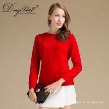 Türkei Heiße Verkäufe handgemachte Kaschmir mit Pocket Sweater Designs für Mädchen