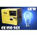Diesel Generator Made From Manufacturer/ 6kVA Diesel Generator