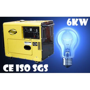 Gerador diesel feito do fabricante / 6kVA Gerador diesel