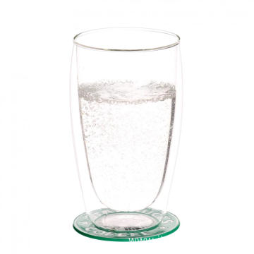 Double Wall Thermo Glass Tumbler for Water Mug