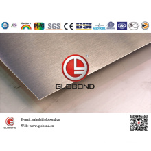 Globond Brushed Stainless Steel Sheet 036