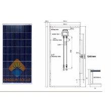 Potência de energia do painel solar de 185W Watt Poly