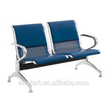 Public area metal airport waiting chair with cushion