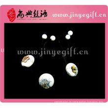Pulseira com pedras de gema artesanal Shangdian