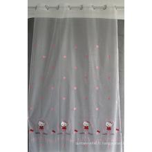 Rideau transparent de broderie de fenêtre de vente chaude