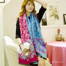 2015 novo lenço promocional da senhora floral da forma de vinda