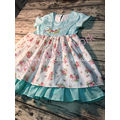 Girls Flower Embroidery Dress