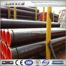 Ansi b36.10 astm a106 b tubo de acero negro