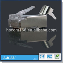 FTP cat7 rj45 conector 8P8C cabo de rede modular plug grossista preço
