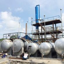 Sistema de destilación de refinería de petróleo crudo
