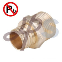 lead free brass straight pex coupling