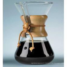 Cafetière Chemex, pot de goutte au café