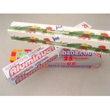 Enrole o sanduíche de papel de folha de alumínio
