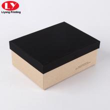 Caja de zapatos de hombre de cartón personalizado