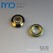 Robe ronde en métal métallisé