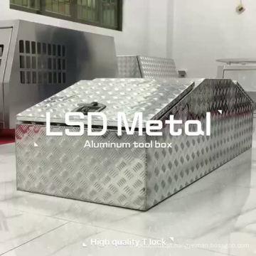 Caixa de ferramentas do caminhão de coleta de asa de gaivota de alumínio impermeável