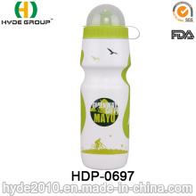 Bouteille d'eau en plastique de sport de plastique de PE libre de BPA 2017, bouteille d'eau en plastique de sport en cours d'exécution (HDP-0697)