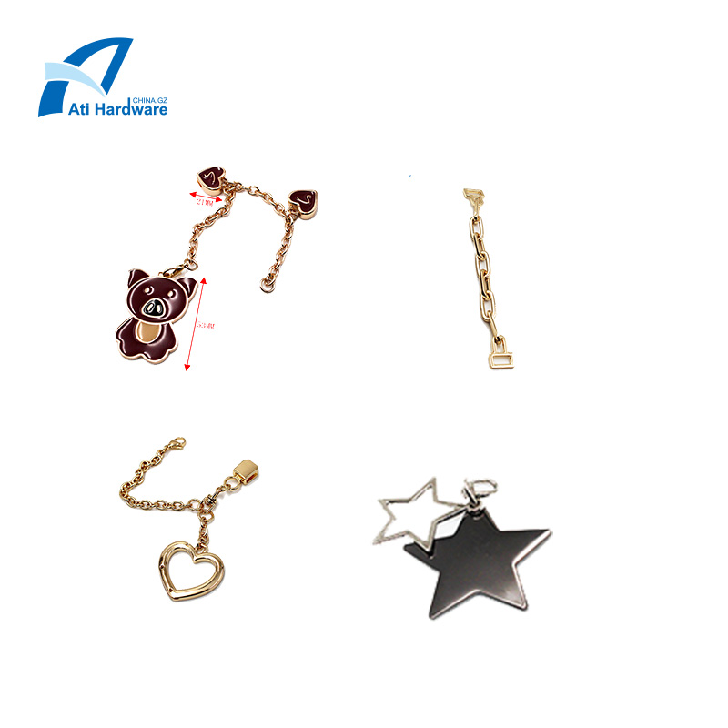 Decoration metal chains for bags