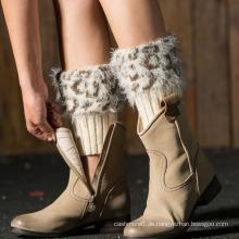 Fuß-Socken-Winter-Bein-Wärmer der GroßhandelsMohair-Frauen