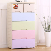 Colorful Fashion Plastic Wardrobe Drawer Cabinet (206025)