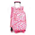 Girls Durable Outdoor School Bag Detachable Trolley Backpack